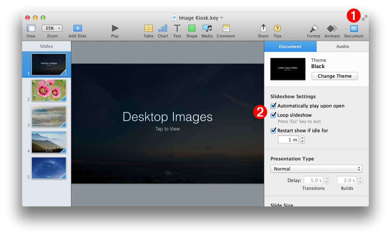 AppleScript and Keynote: Making Kiosk Documents