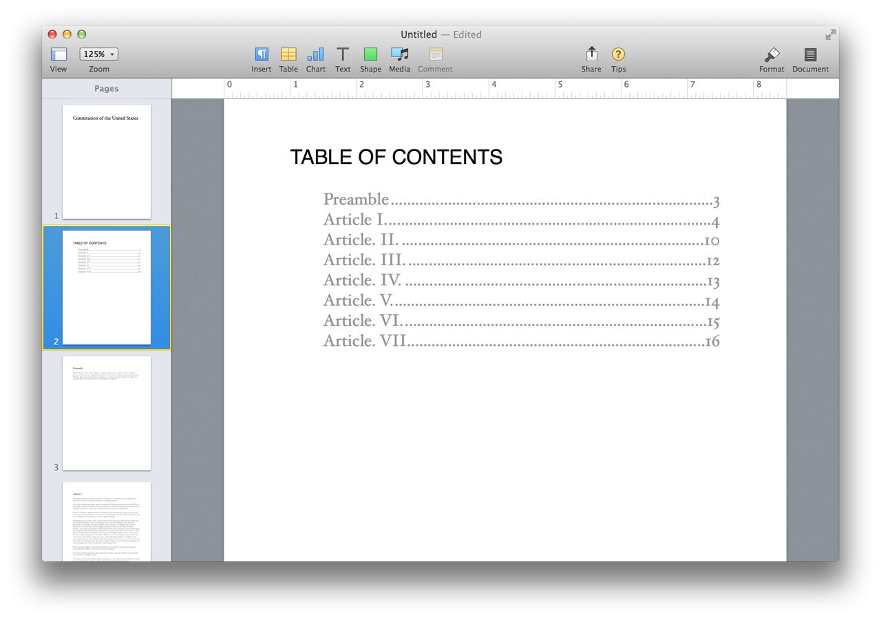 The Completed Pages Document In Process Sections Of Omni Outliner